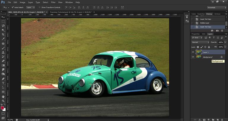Como fazer o efeito panning no Photoshop