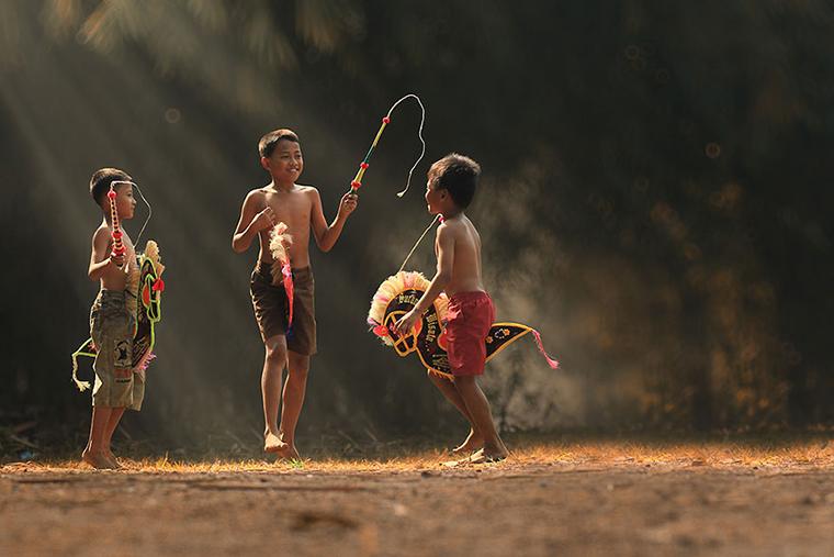 Vida cotidiana em aldeias da Indonésia