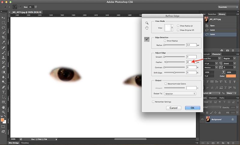 Como clarear o olhos no Photoshop