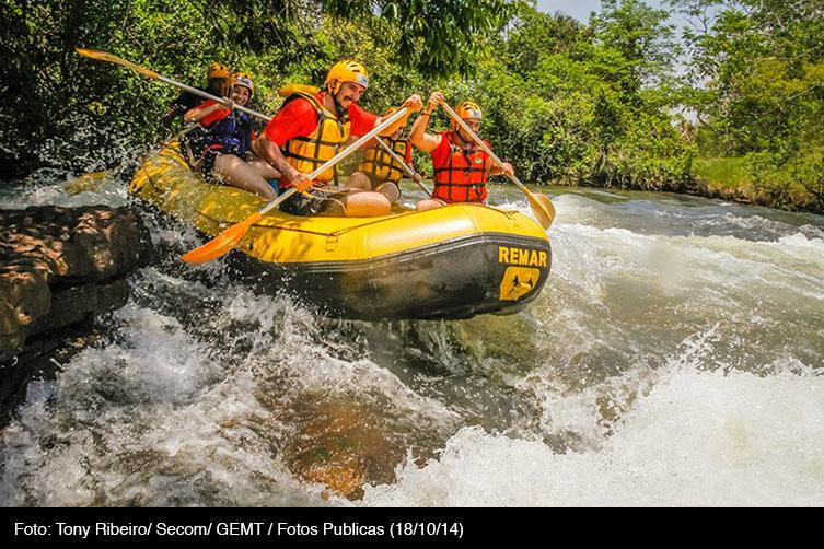 Rafting em Jaciara, no Mato Grosso. Foto: Tony Ribeiro/ Secom/ GEMT