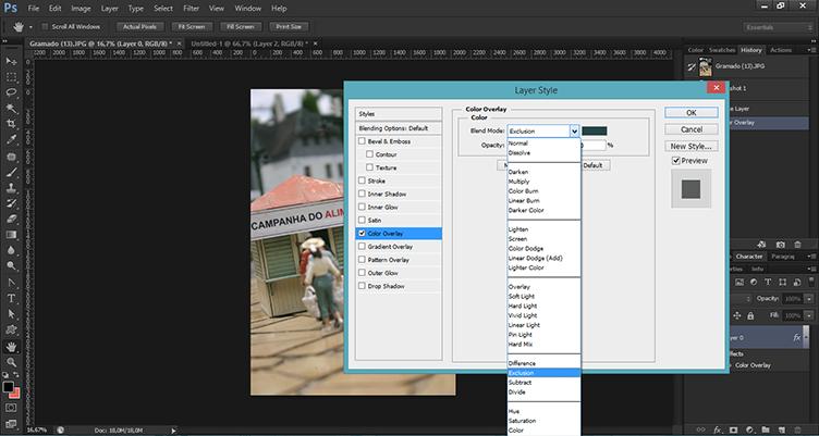 Como aplicar efeito de cor em fotografias