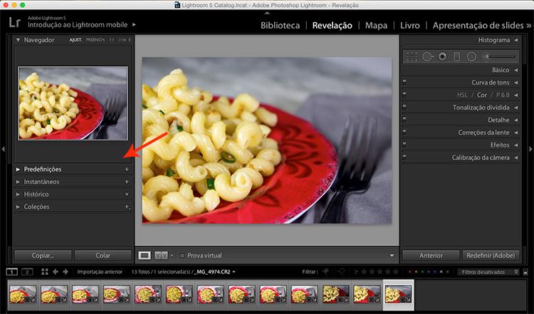 Sincronizando o tratamento de imagens no Lightroom